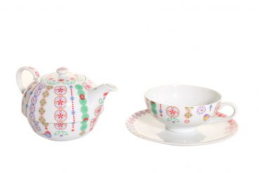 Tea for One Set Bonjour! von Overbeck and Friends