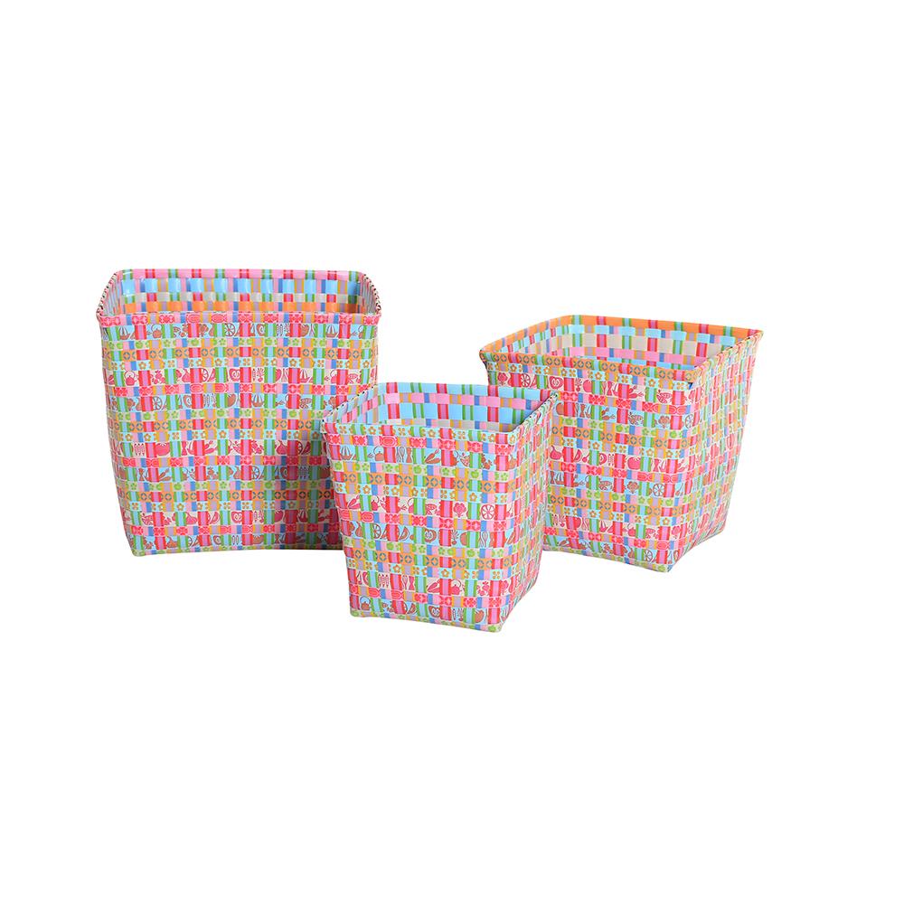 k rbe quadratisch martha bunt 3er set von overbeck and friends. Black Bedroom Furniture Sets. Home Design Ideas